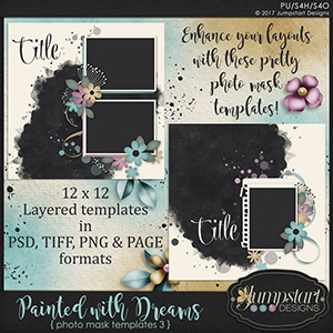 Painted with Dreams { Photo Mask Templates 3 } by Jumpstart Designs