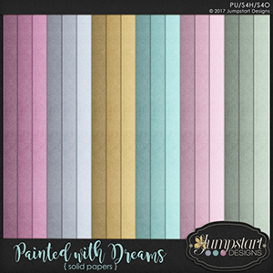Painted with Dreams { Solid Papers } by Jumpstart Designs