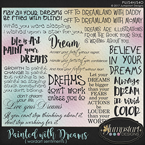 Painted with Dreams { Wordart } by Jumpstart Designs