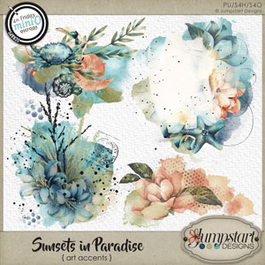 Sunsets in Paradise { Art Accents } by Jumpstart Designs