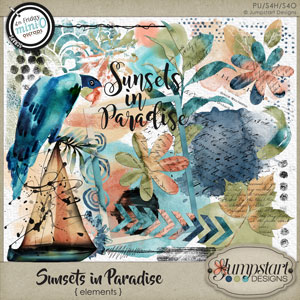 Sunsets in Paradise { Elements } by Jumpstart Designs