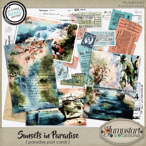 Sunsets in Paradise { Paradise Post Cards } by Jumpstart Designs