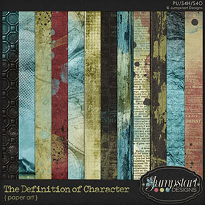 The Definition of Character { Paper Art } by Jumpstart Designs