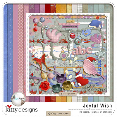 Joyful Wish FREE Quick Pages (Collaboration by Vera & Kitty)
