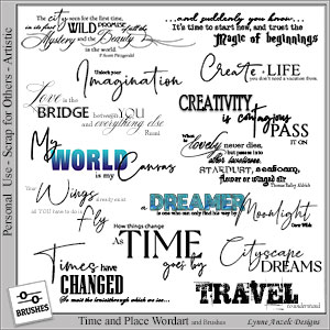 Time and Place Wordart