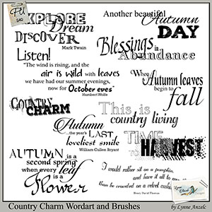 Country Charm Wordart and Brushes