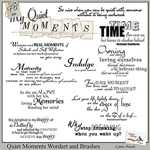 Quiet Moments Wordart and Brushes