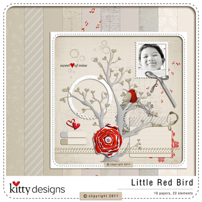 Little Red Bird {FREE GIFT with PURCHASE}