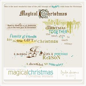 Magical Christmas - Wordarts