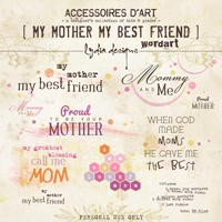 My Mother My Best Friend | Wordarts
