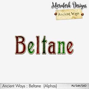 Ancient Ways Beltane Alphas