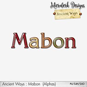 Ancient Ways Mabon Alphas