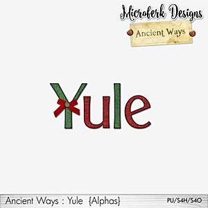 Ancient Ways Yule Alphas