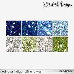 Adriana Indigo Glitter Styles