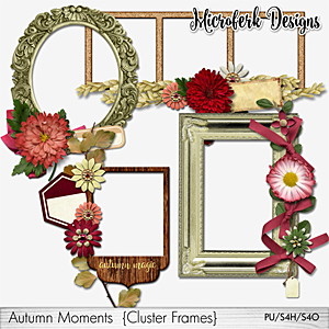 Autumn Moments Cluster Frames