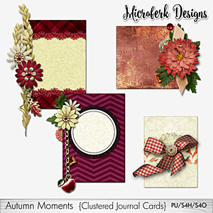 Autumn Moments Clustered Journal Cards