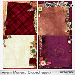 Autumn Moments Stacked Papers