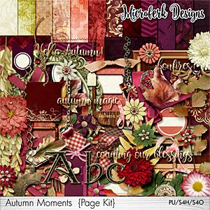 Autumn Moments Page Kit