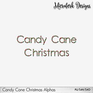 Candy Cane Christmas Alphas