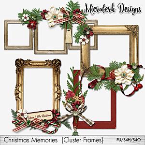 Christmas Memories Cluster Frames