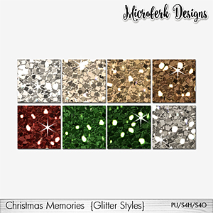 Christmas Memories Glitter Styles