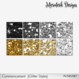 Commencement Glitter Styles