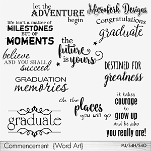 Commencement Word Art