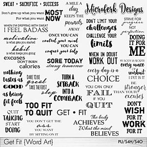 Get Fit Word Art