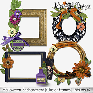 Halloween Enchantment Cluster Frames