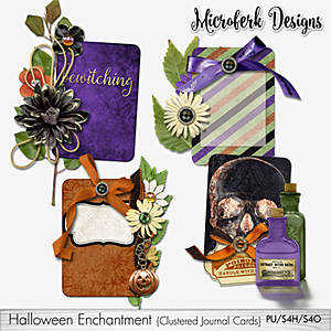Halloween Enchantment Clustered Journal Cards