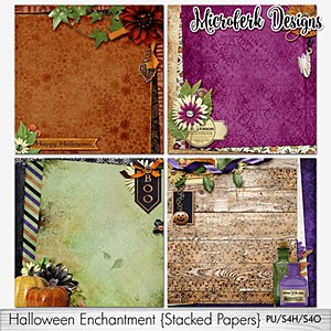 Halloween Enchantment Stacked Papers