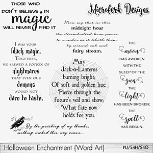 Halloween Enchantment Word Art