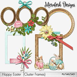 Happy Easter Cluster Frames