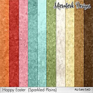 Happy Easter Sparkled Plains