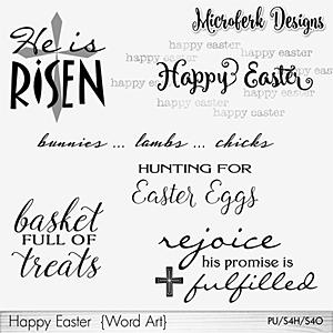 Happy Easter Word Art