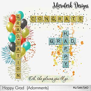 Happy Grad Adornments