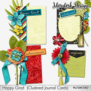 Happy Grad Clustered Journal Cards