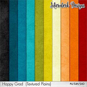 Happy Grad Textured Plains