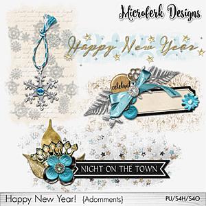 Happy New Year Adornments