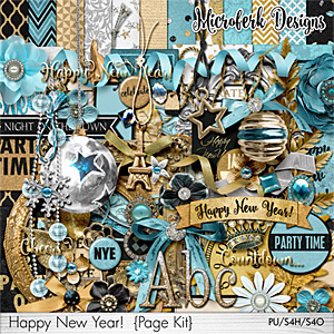 Happy New Year Page Kit