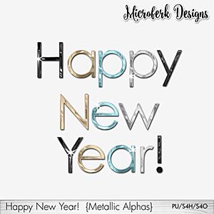 Happy New Year Metallic Alphas
