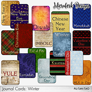 Journal Cards: Winter