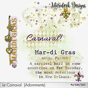 Le Carnaval Adornments