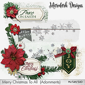 Merry Christmas To All Adornments