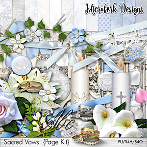 Sacred Vows Page Kit