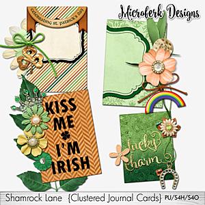 Shamrock Lane Clustered Journal Cards