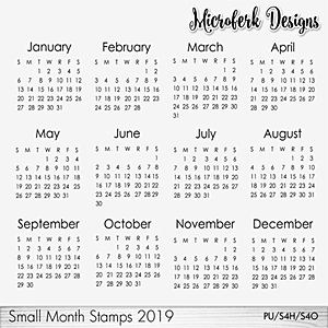 Small Month Stamps 2019
