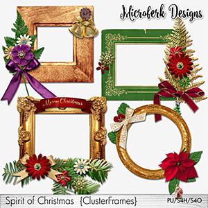 Spirit of Christmas Cluster Frames