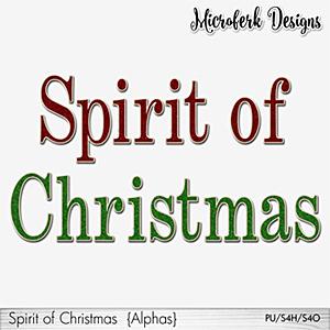 Spirit of Christmas Alphas