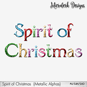 Spirit of Christmas Metallic Alphas